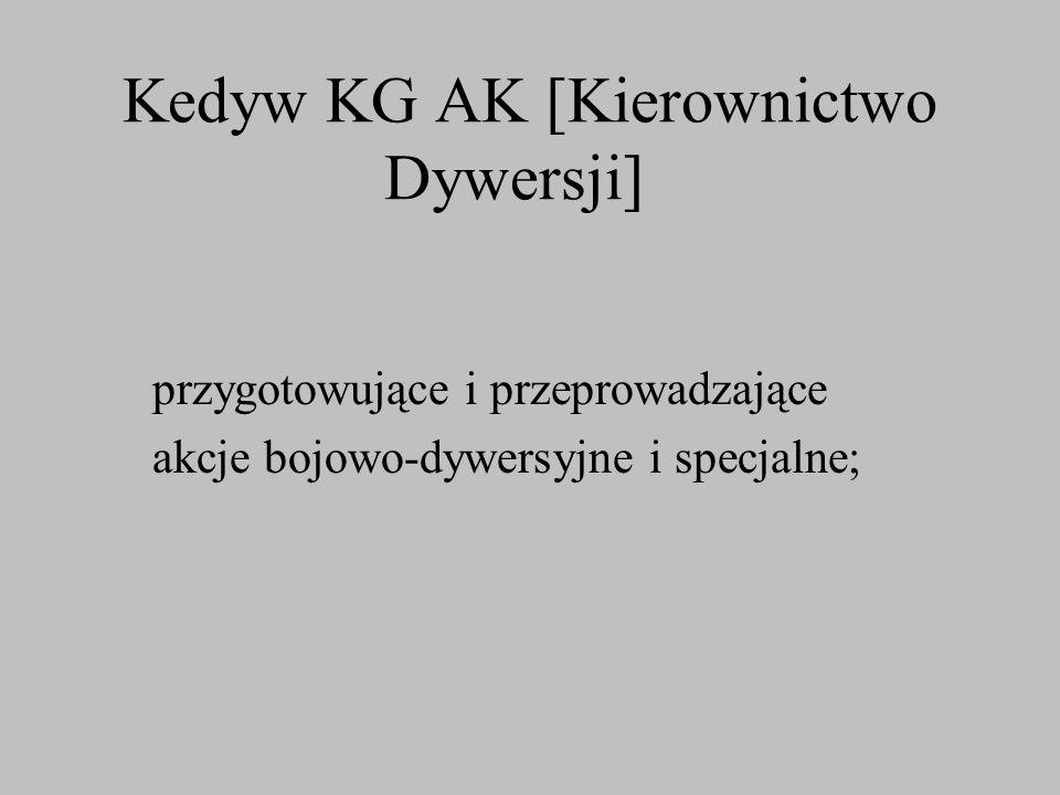 Kedyw KG AK [Kierownictwo Dywersji]